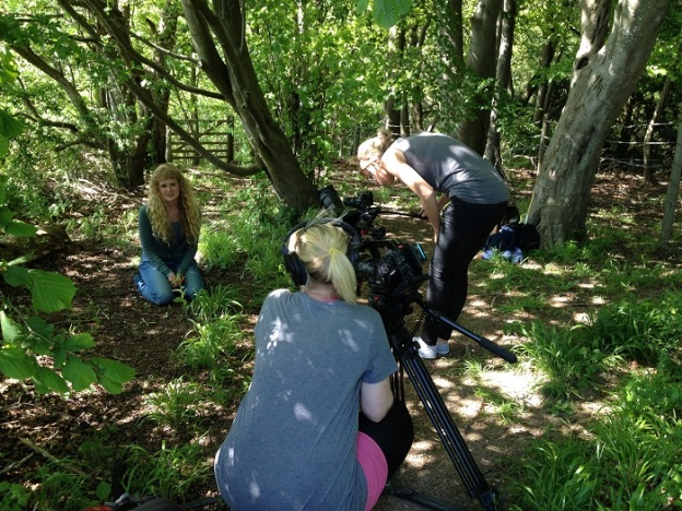 Filming for Orchid Observers at Warburg Nature Reserve in Oxfordshire