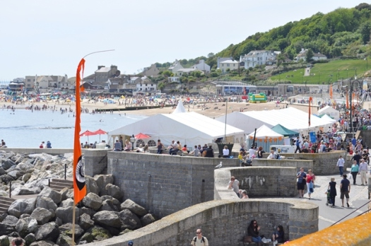 A gloriously sunny May Day bank holiday weekend for the Lyme Regis Fossil Festival