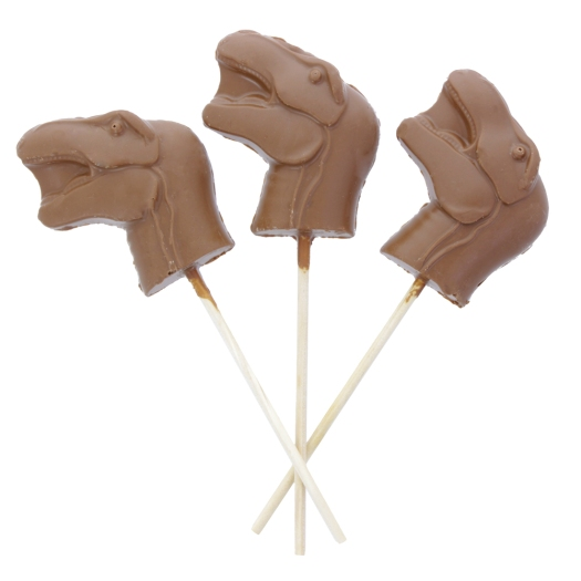 Photo showing 3 of the lollies from the side