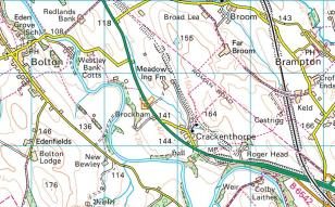 Brockham, Cumbria on Streetmap