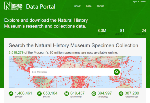 Image of Natural History Museum's Data Portal